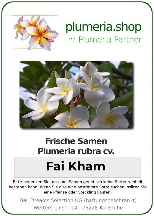 "Plumeria rubra ""Fai Kham"""